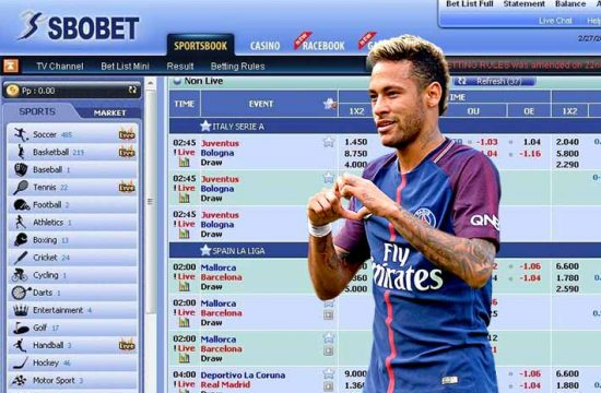 Neymar Jr Sbobet game step